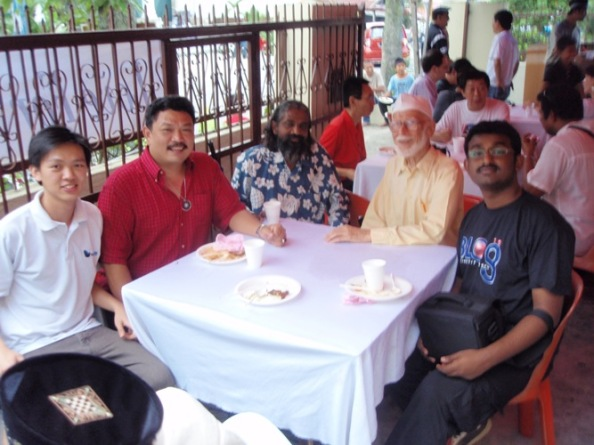 Markus ( far left ) at the Ahmadiyah fellowship