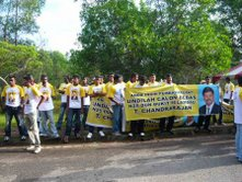 Chandrajan's supporters. (Yeap that's all of them actually)