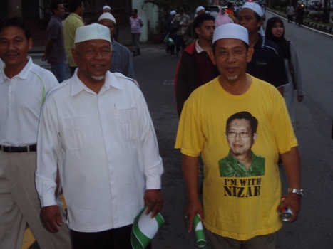 I estimated that about 30,000 were out there with Nizar this morning.