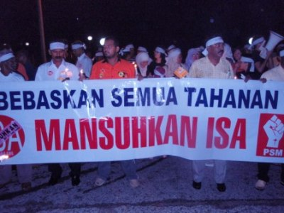 Anti-ISA vigil in Kamunting in June last year