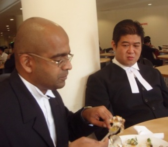 Co-counsels Sreekant (L) and Ben Lim