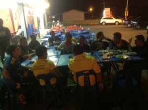 supper with the team in Arau