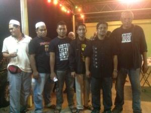 Chegubard and team members in Sungai Petani