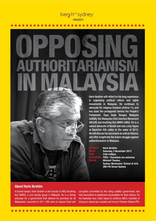 Opposing Authoritarianism Sydney
