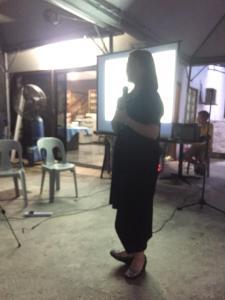 Hannah speaking